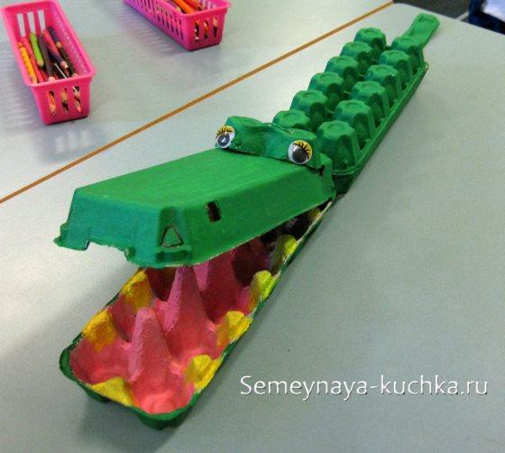 поделка крокодил для мальчиков