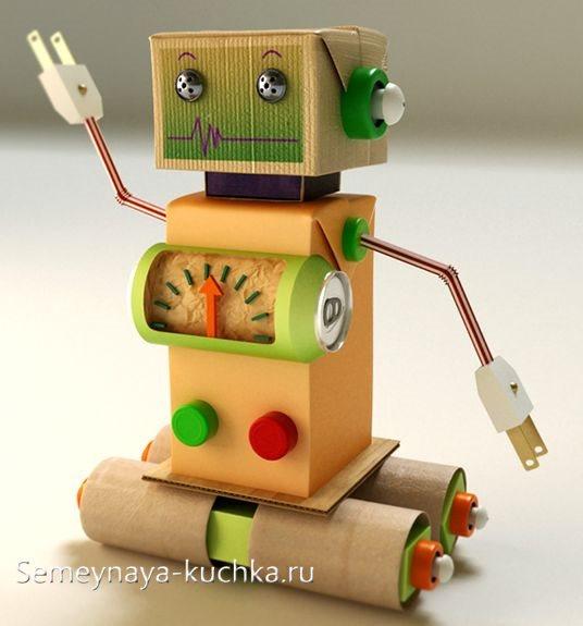 поделка робот из бумаги для мальчиков