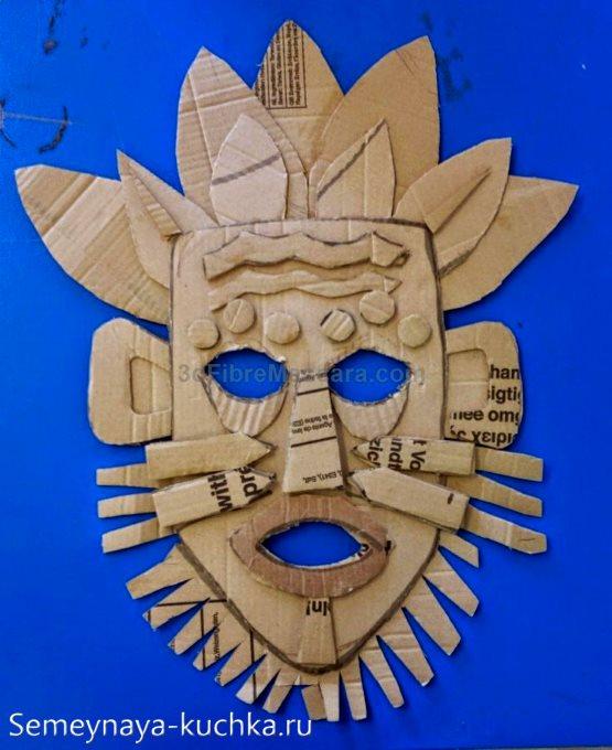 поделка маска индейца для мальчиков