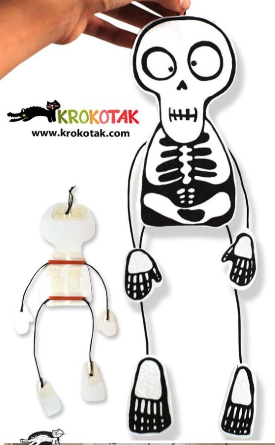поделка скелет для мальчиков
