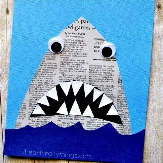 аппликация акула для мальчиков