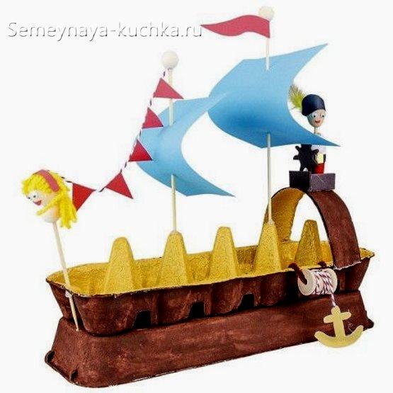 поделка для мальчиков корабль своими руками