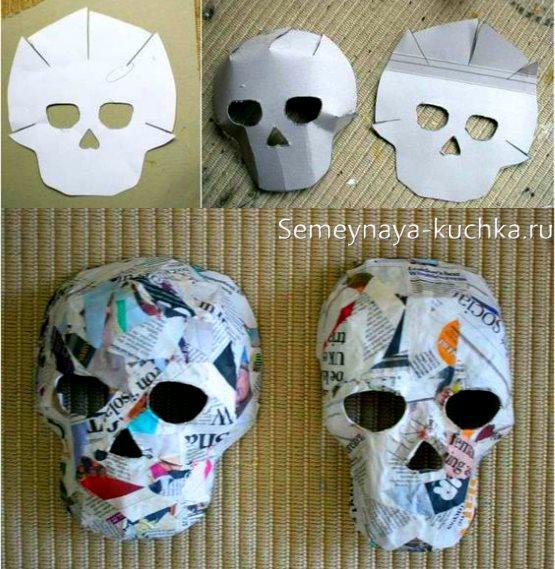 объемная маска череп своими руками
