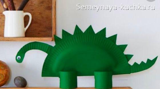 поделка динозавр для мальчиков