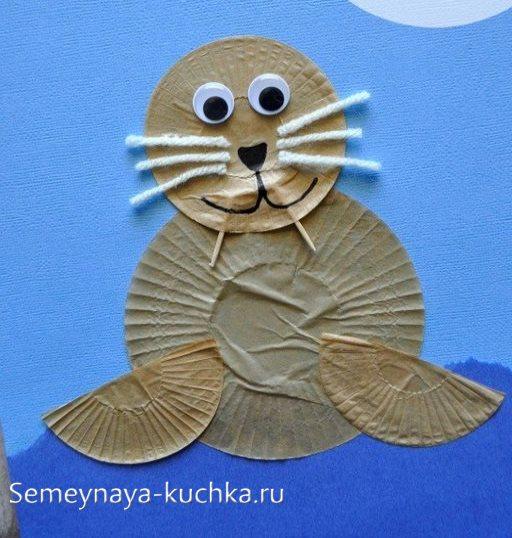 поделка морж для детей 4 лет