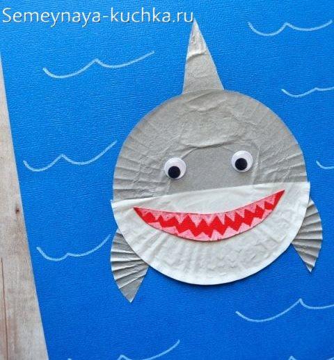 поделка акула на 4 года
