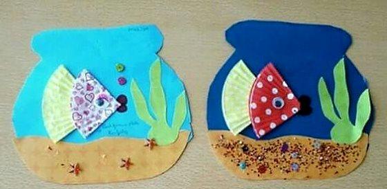 поделка рыбки для детей в 4 года