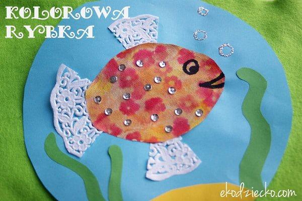 поделка рыбка для детей 4 лет