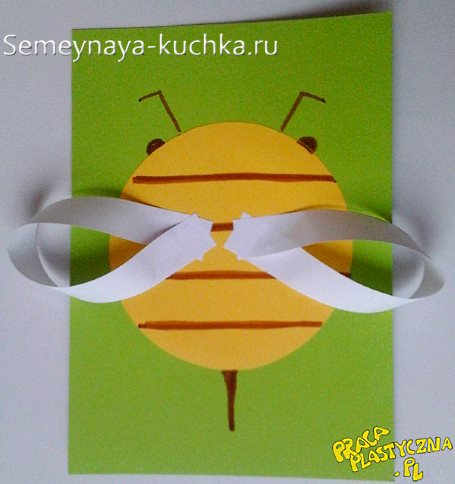 поделка пчела для детей в 4 года