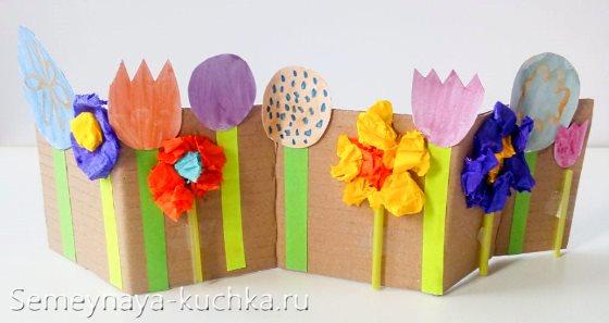 поделка цветы для детей 4 лет