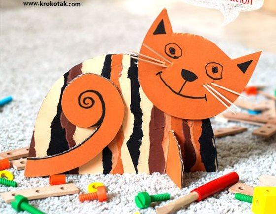 поделка кошка на 4 года