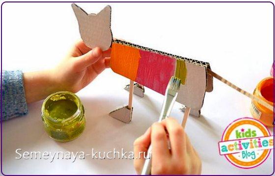поделка кот для детского сада