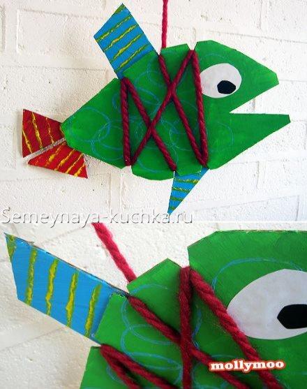 поделка рыбка для детского сада