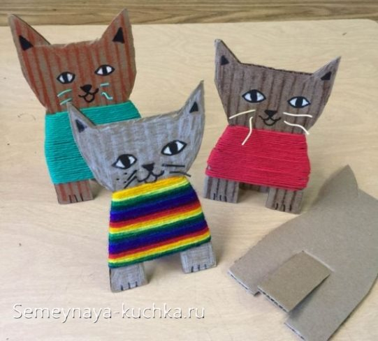 поделка котята для детского сада