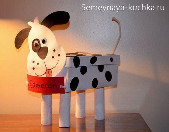 объемная поделка собака для детей