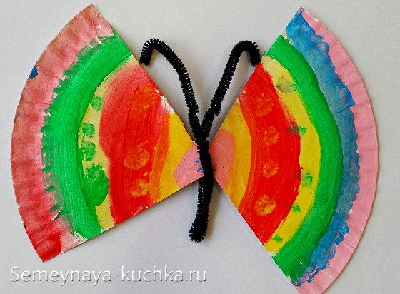 поделка бабочка рисование на 4 года