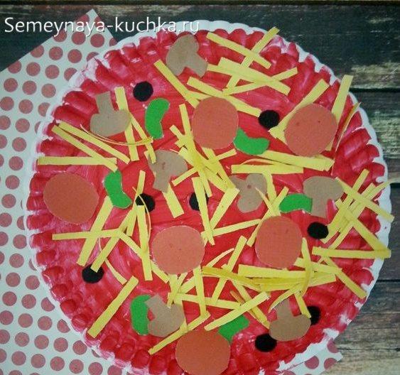поделка пицца из тарелки на 4 года