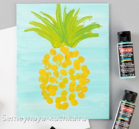 поделка ананас рисование на 4 года