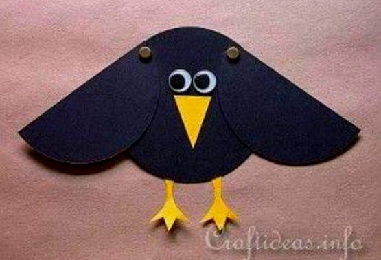 поделки ворона для детей 5 лет