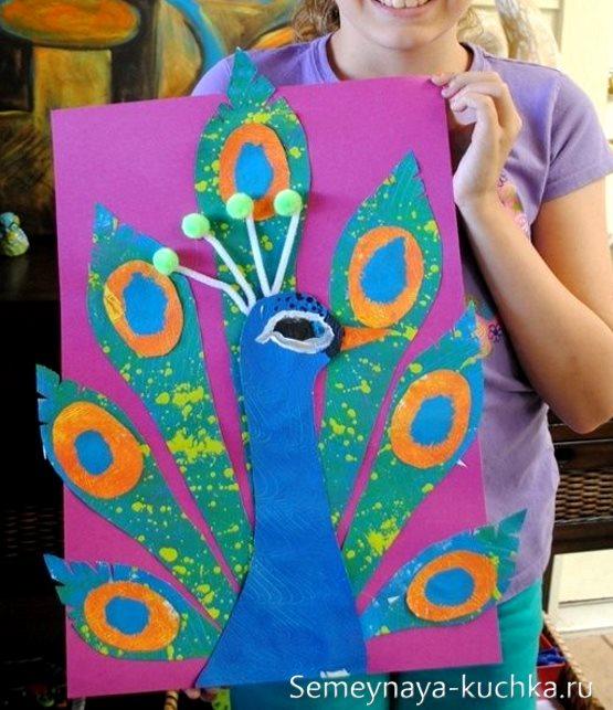 поделка красками для детей 5 лет