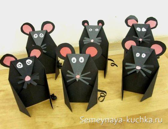 поделка мышки крысы для детей 5 лет