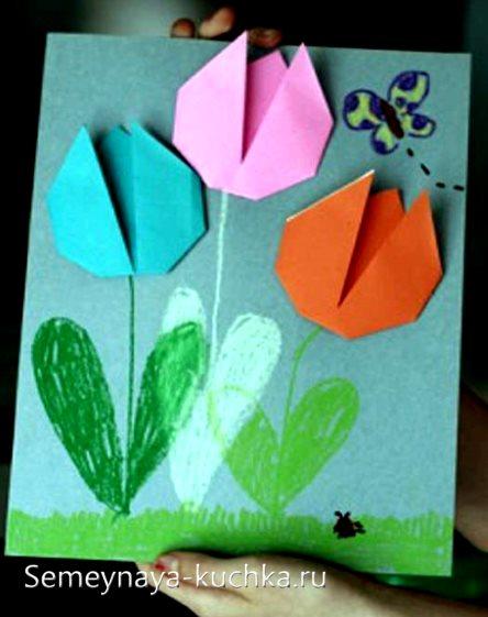 поделка тюльпаны для детей 5 лет