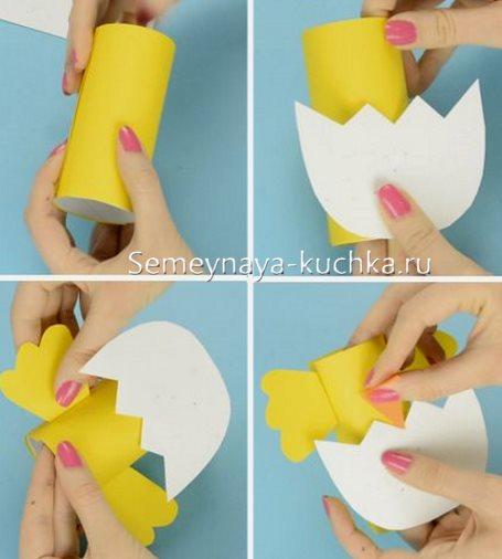 как сделать цыпленка из картона