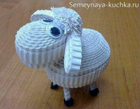 поделка в садик овечка