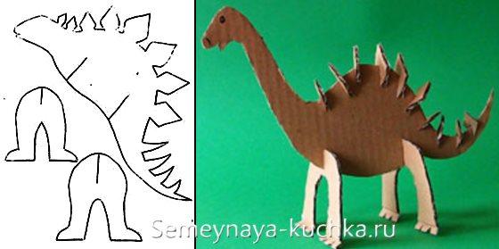 поделка в садик динозавр