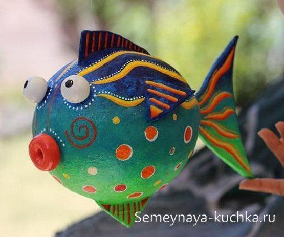 поделка в садик рыбка