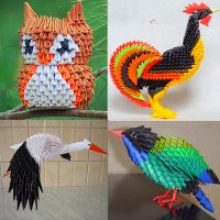 птицы из модульного оригами