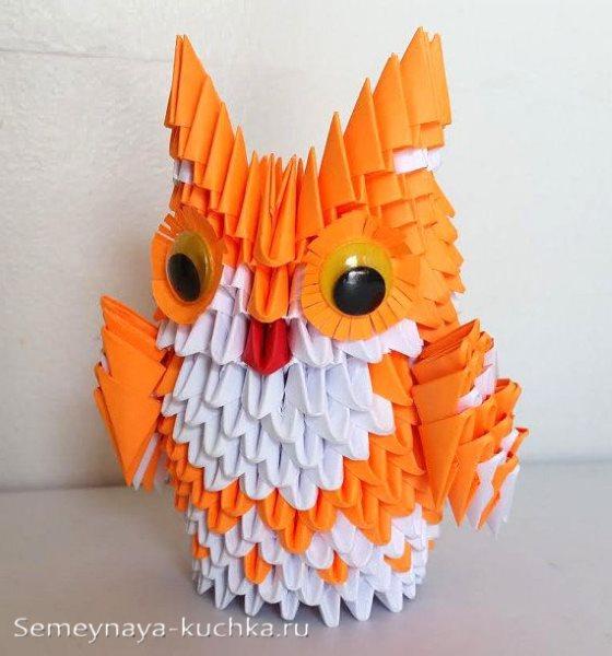 совы из модульного оригами
