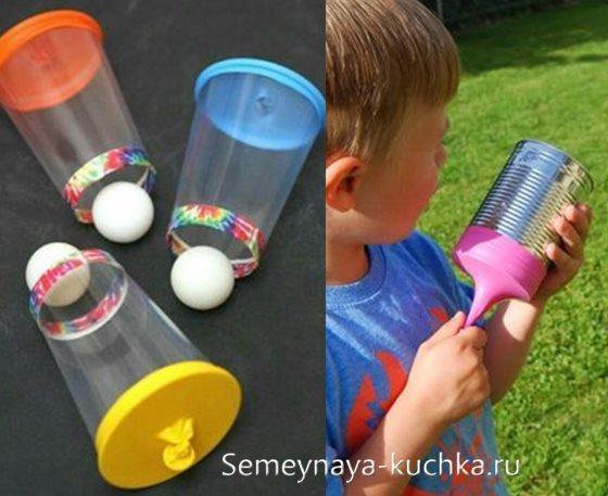 рогатка из воздушного шарика для мальчиков