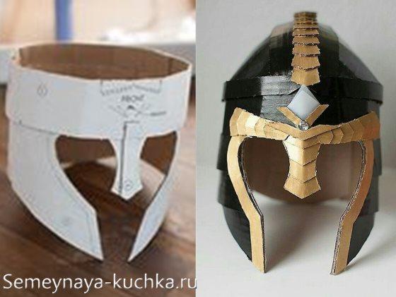 как сделать рыцарский шлем для мальчика