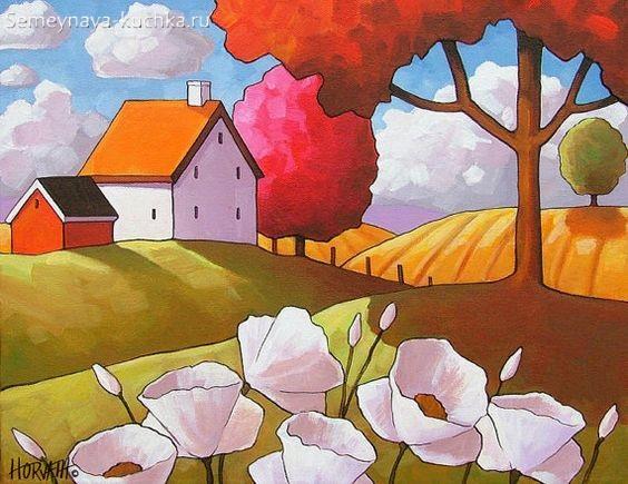 картина осень с крупным планом