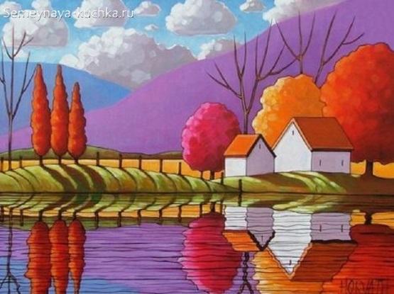 картина осень простая