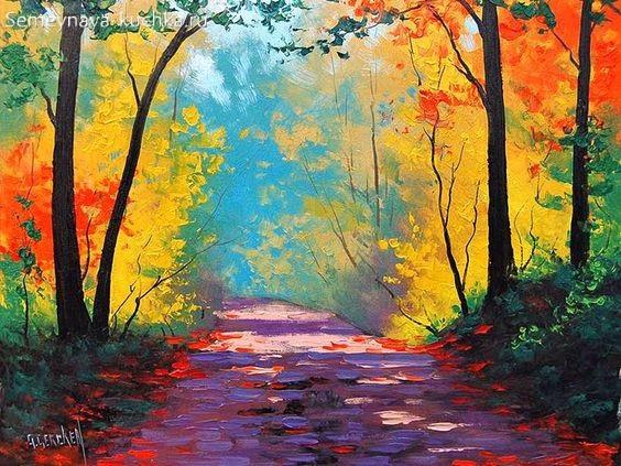 картина осень в парке осенний свет