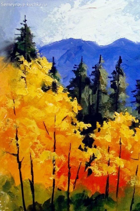 картина осень в лесу