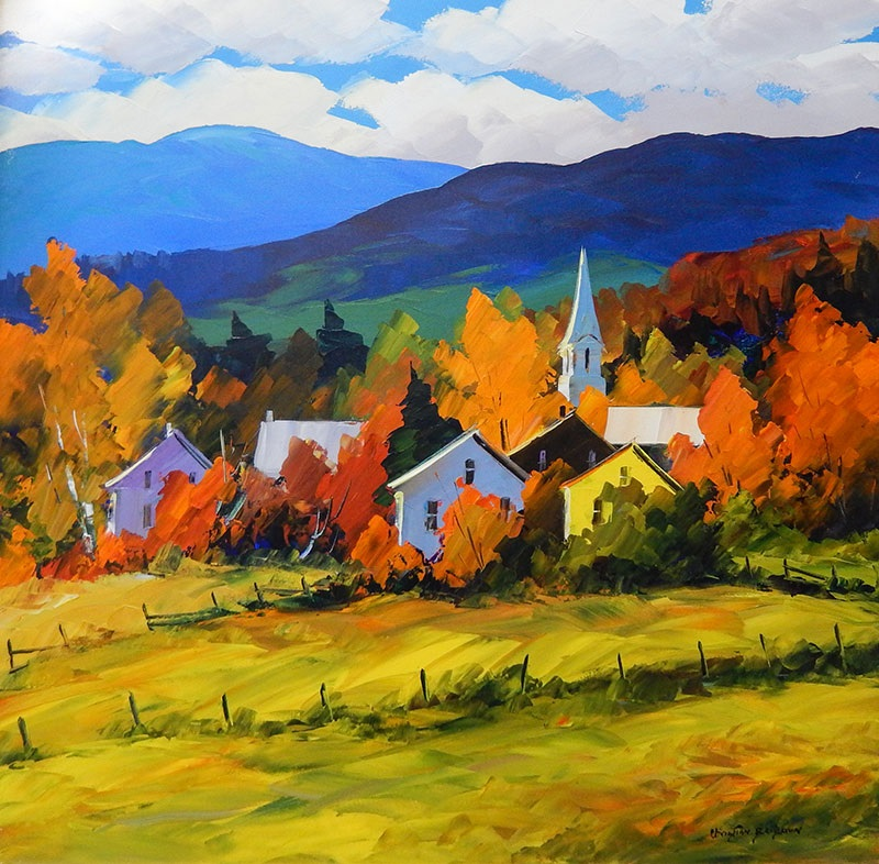 картина осень в деревне