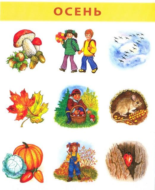 карточки осень для детского сада