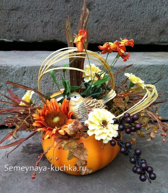 красивая поделка букет осень в садик