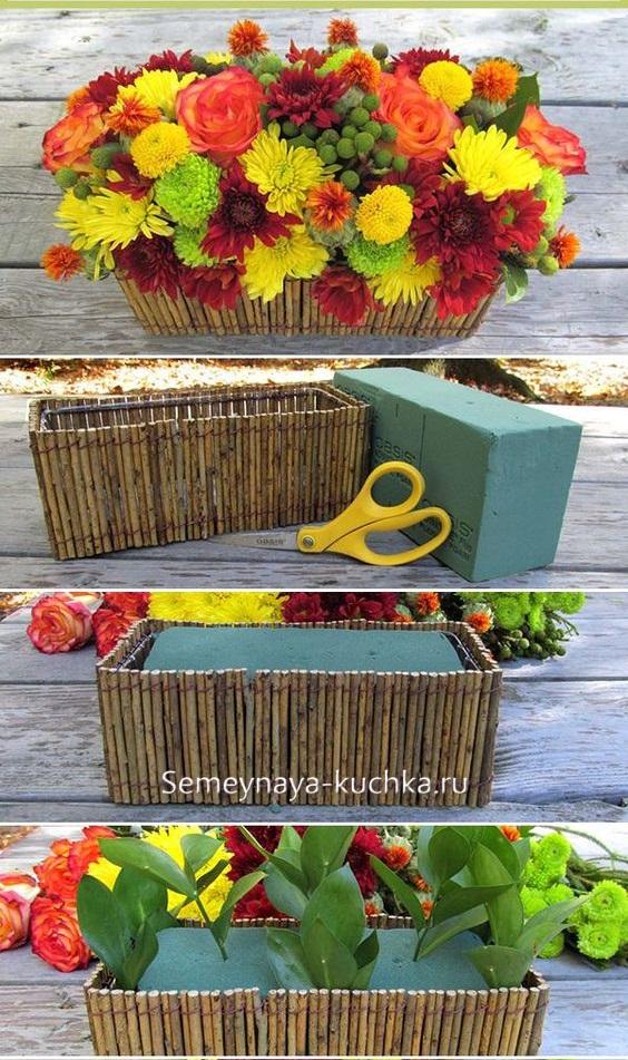 как сделать осенний букет в садик