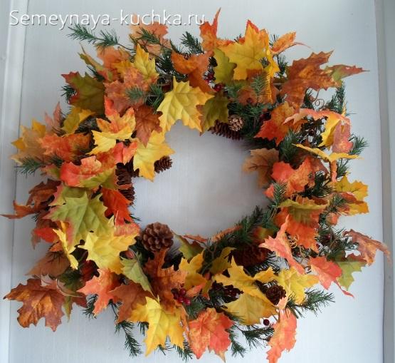 поделка осень из природного материала в садик