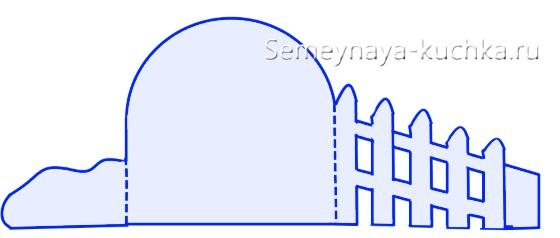 схема осенней поделки в садик