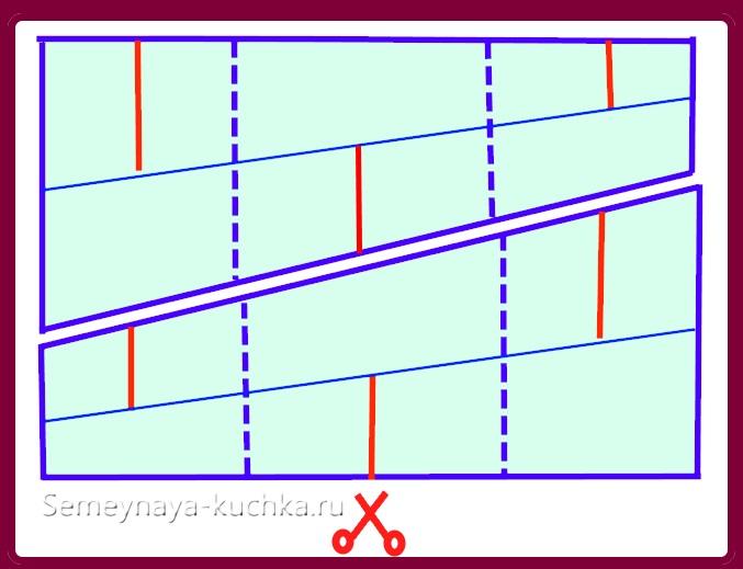 схема чертеж осенней поделки