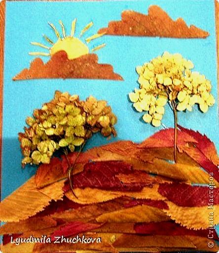 аппликации поделки из листьев