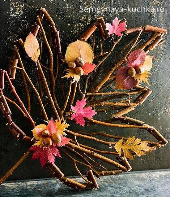 поделки из листьев красивые