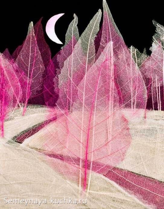 поделки из листьев картинка