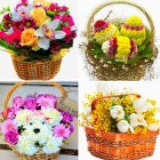 Цветы В КОРЗИНЕ (100 лучших ярких фото с надписями)