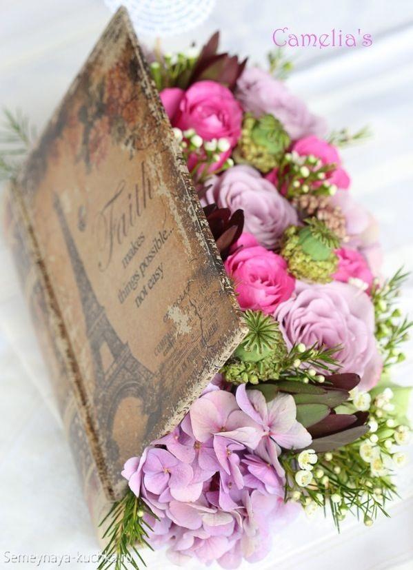 цветы в корзине композиция